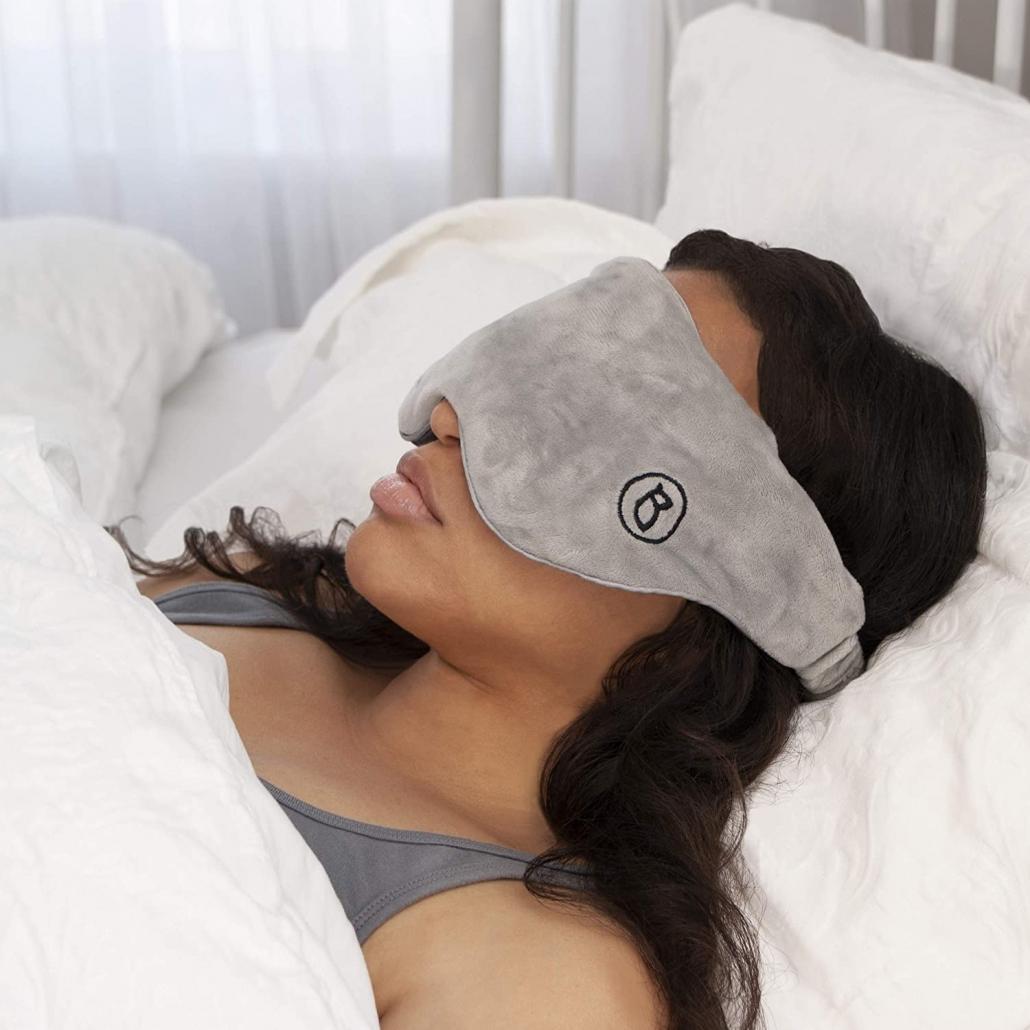 BARMY Weighted Sleep Mask worn