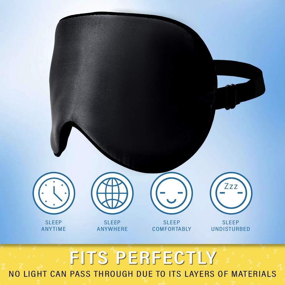 Jersey Slumber 100% Silk Sleep Mask benefit