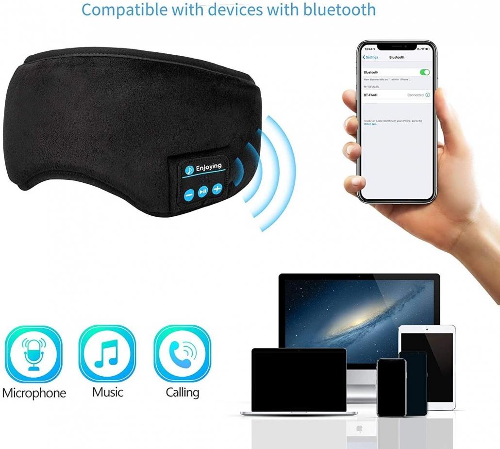 Joseche Wireless sleep mask feature