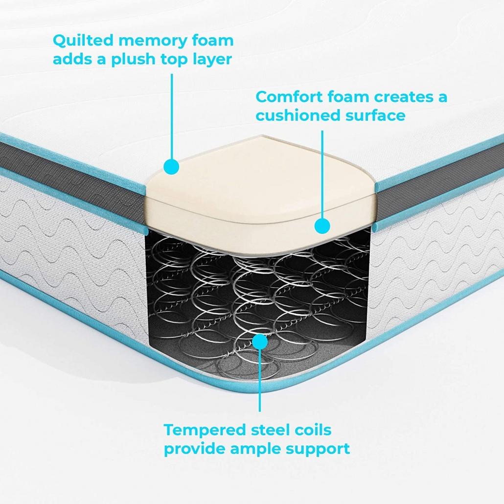 Linenspa Memory Foam and Innerspring Hybrid