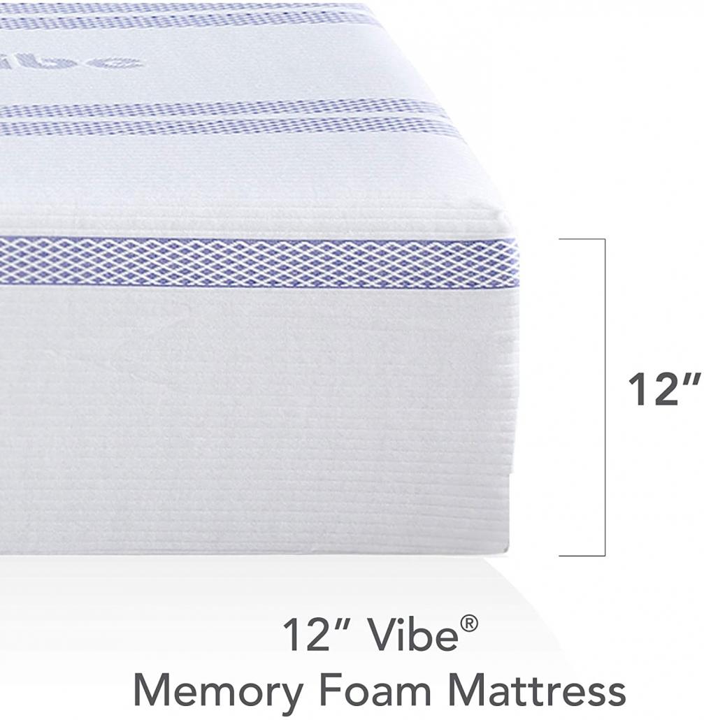 Vibe Gel Memory Foam 12-Inch Mattress size