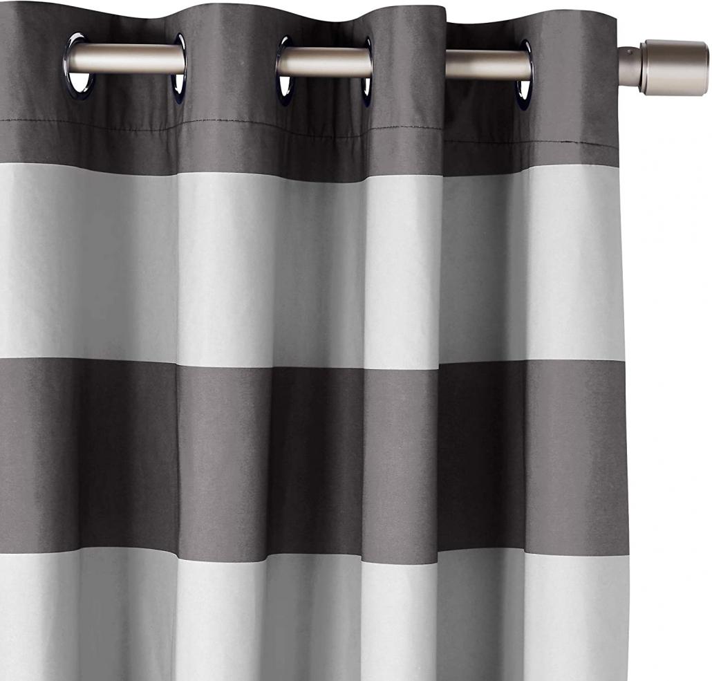 Amazon Basics Room Darkening Blackout Window Curtains stripe
