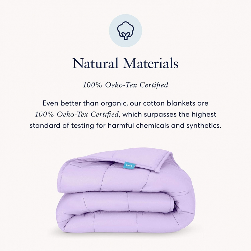 luna weighted blankets feature