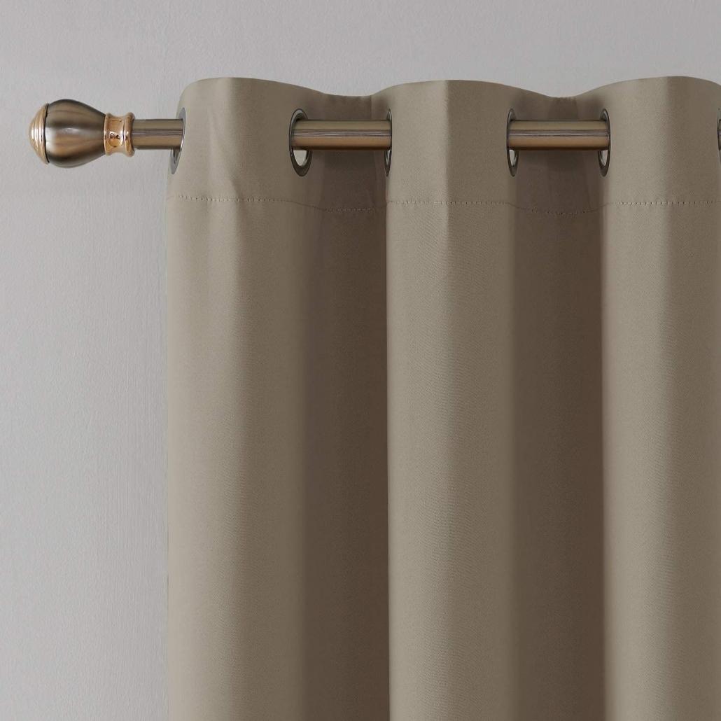 top 5 blackout curtains on amazon khaki