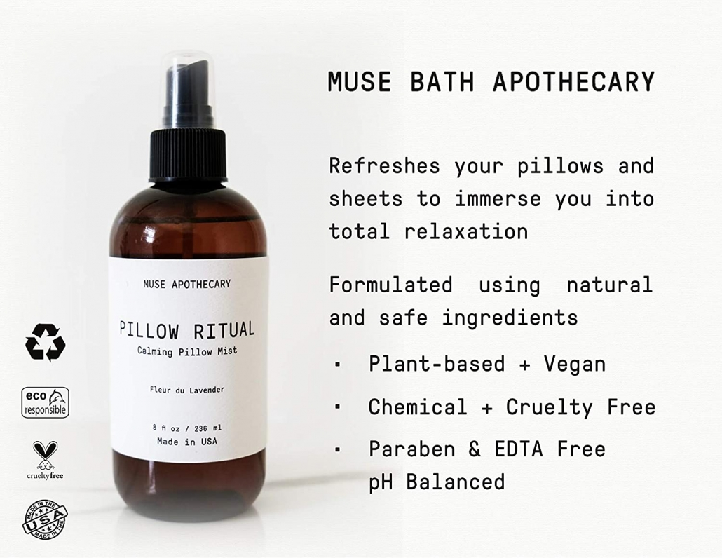 Muse Apothecary Pillow spray features