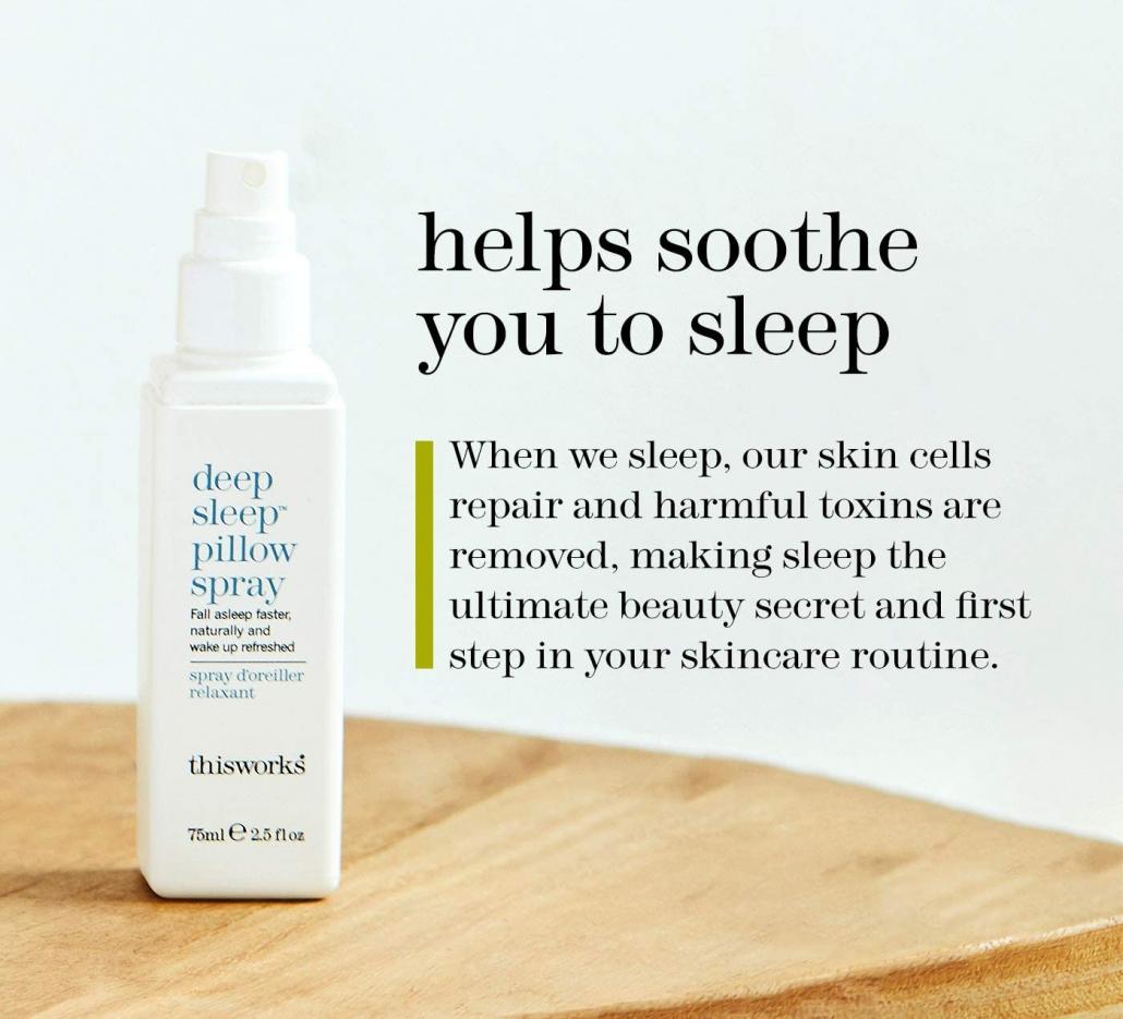 thisworks Deep Sleep Pillow Spray effect